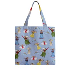 Christmas Angels  Zipper Grocery Tote Bag