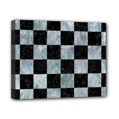Square1 Black Marble & Ice Crystals Canvas 10  X 8  by trendistuff