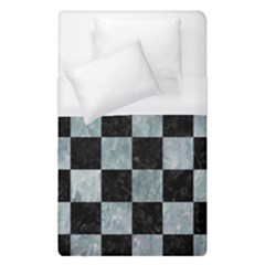 Square1 Black Marble & Ice Crystals Duvet Cover (single Size) by trendistuff