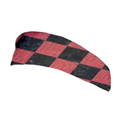 Square1 Black Marble & Red Denim Stretchable Headband by trendistuff