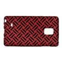 WOVEN2 BLACK MARBLE & RED DENIM Galaxy Note Edge View1