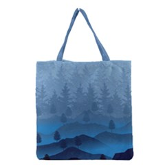 Blue Mountain Grocery Tote Bag by berwies