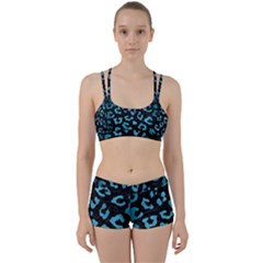 Skin5 Black Marble & Teal Brushed Metal Women s Sports Set by trendistuff
