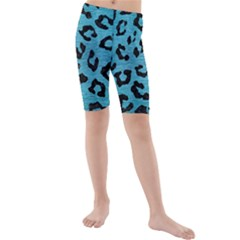 Skin5 Black Marble & Teal Brushed Metal (r) Kids  Mid Length Swim Shorts by trendistuff