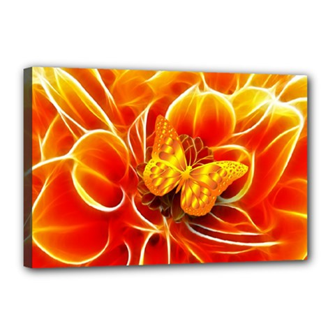 Arrangement Butterfly Aesthetics Orange Background Canvas 18  X 12  by Celenk