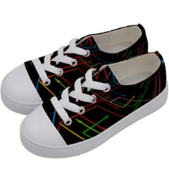 Arrows Direction Opposed To Next Kids  Low Top Canvas Sneakers by Celenk