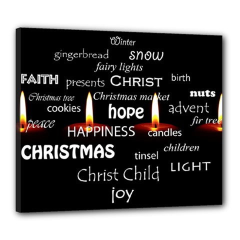 Candles Christmas Advent Light Canvas 24  X 20  by Celenk