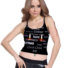 Candles Christmas Advent Light Spaghetti Strap Bra Top by Celenk