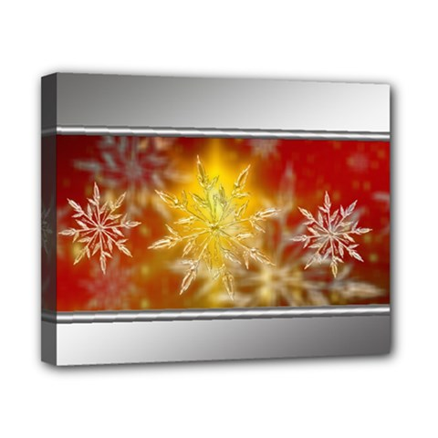 Christmas Candles Christmas Card Canvas 10  X 8  by Celenk