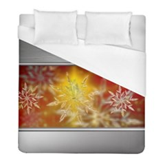 Christmas Candles Christmas Card Duvet Cover (full/ Double Size) by Celenk