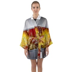 Christmas Candles Christmas Card Long Sleeve Kimono Robe