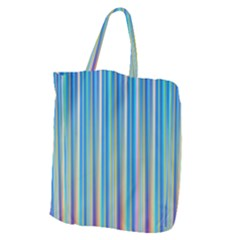 Colorful Color Arrangement Giant Grocery Zipper Tote