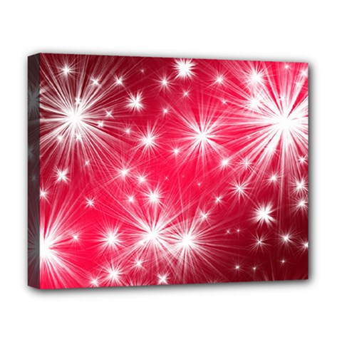 Christmas Star Advent Background Deluxe Canvas 20  X 16   by Celenk
