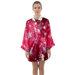 Christmas Star Advent Background Long Sleeve Kimono Robe by Celenk