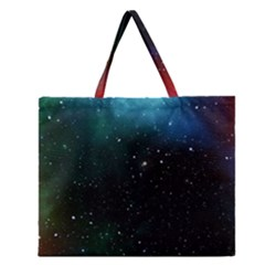Galaxy Space Universe Astronautics Zipper Large Tote Bag