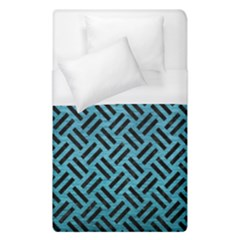 Woven2 Black Marble & Teal Brushed Metal Duvet Cover (single Size)