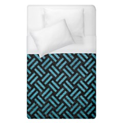 Woven2 Black Marble & Teal Brushed Metal (r) Duvet Cover (single Size)