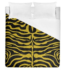 Skin2 Black Marble & Yellow Denim (r) Duvet Cover (queen Size) by trendistuff