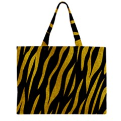 Skin3 Black Marble & Yellow Denim (r) Zipper Mini Tote Bag by trendistuff