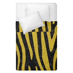 Skin4 Black Marble & Yellow Denim Duvet Cover Double Side (single Size) by trendistuff