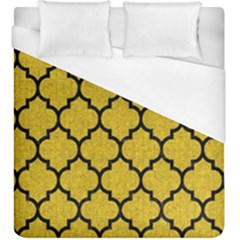 Tile1 Black Marble & Yellow Denim Duvet Cover (king Size) by trendistuff