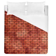 Brick1 Black Marble & Copper Paint Duvet Cover (queen Size) by trendistuff