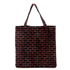Brick1 Black Marble & Copper Paint (r) Grocery Tote Bag by trendistuff