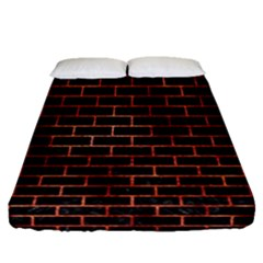 Brick1 Black Marble & Copper Paint (r) Fitted Sheet (queen Size) by trendistuff