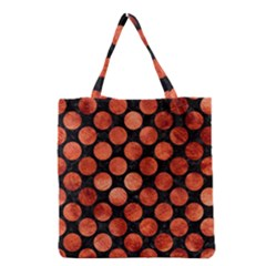 Circles2 Black Marble & Copper Paint (r) Grocery Tote Bag by trendistuff