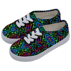 Glittering Kaleidoscope Mosaic Pattern Kids  Classic Low Top Sneakers by Costasonlineshop