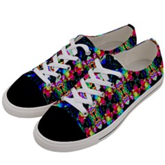 Colorful Bright Seamless Flower Pattern Women s Low Top Canvas Sneakers by Costasonlineshop