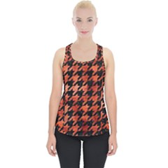 Houndstooth1 Black Marble & Copper Paint Piece Up Tank Top by trendistuff