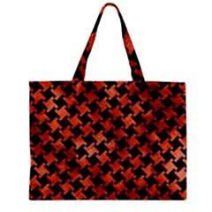 Houndstooth2 Black Marble & Copper Paint Zipper Mini Tote Bag by trendistuff