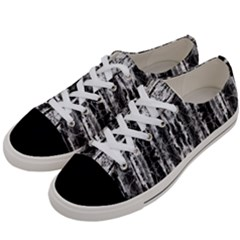 Black White Taditional Pattern Women s Low Top Canvas Sneakers by Costasonlineshop