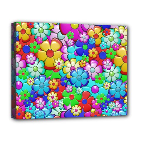 Flowers Ornament Decoration Deluxe Canvas 20  X 16   by Celenk