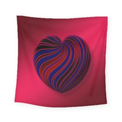 Heart Love Luck Abstract Square Tapestry (small) by Celenk