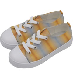 Blue, Yellow, Summer, Pattern Kids  Low Top Canvas Sneakers by Costasonlineshop
