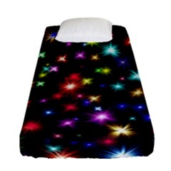 Fireworks Rocket New Year S Day Fitted Sheet (single Size) by Celenk