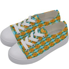 Dragonflies Summer Pattern Kids  Low Top Canvas Sneakers by Costasonlineshop