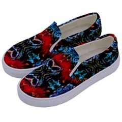 Colorful  Underwater Plants Pattern Kids  Canvas Slip Ons by Costasonlineshop