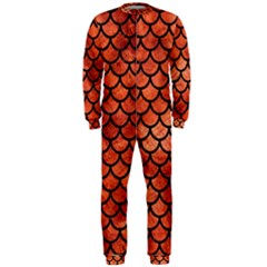 Scales1 Black Marble & Copper Paint Onepiece Jumpsuit (men)  by trendistuff