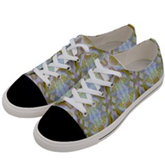 Beautiful White Yellow Rose Pattern Women s Low Top Canvas Sneakers by Costasonlineshop