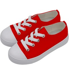 Trendy Red Kids  Low Top Canvas Sneakers by Costasonlineshop