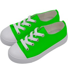 Cool Green Kids  Low Top Canvas Sneakers by Costasonlineshop