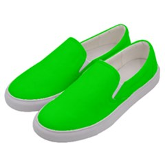 Cool Green Men s Canvas Slip Ons by Costasonlineshop