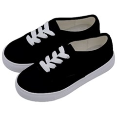 Black Gothic Kids  Classic Low Top Sneakers by Costasonlineshop