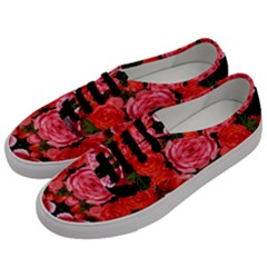 Beautiful Red Roses Men s Classic Low Top Sneakers by Costasonlineshop