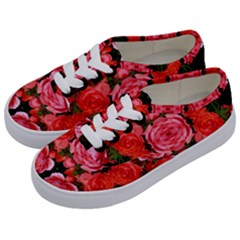Beautiful Red Roses Kids  Classic Low Top Sneakers by Costasonlineshop