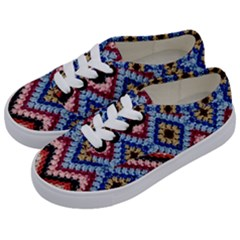 Colorful Diamond Crochet Kids  Classic Low Top Sneakers by Costasonlineshop