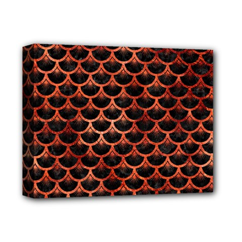 Scales3 Black Marble & Copper Paint (r) Deluxe Canvas 14  X 11  by trendistuff